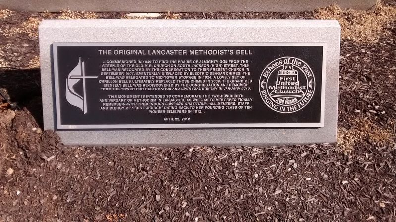 The Original Lancaster Methodist's Bell Marker image. Click for full size.