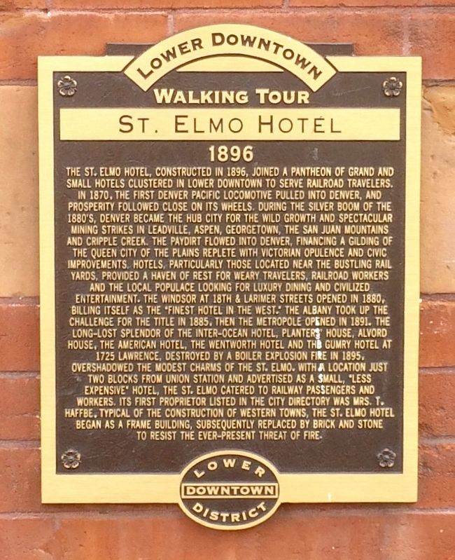 St. Elmo Hotel Marker image. Click for full size.