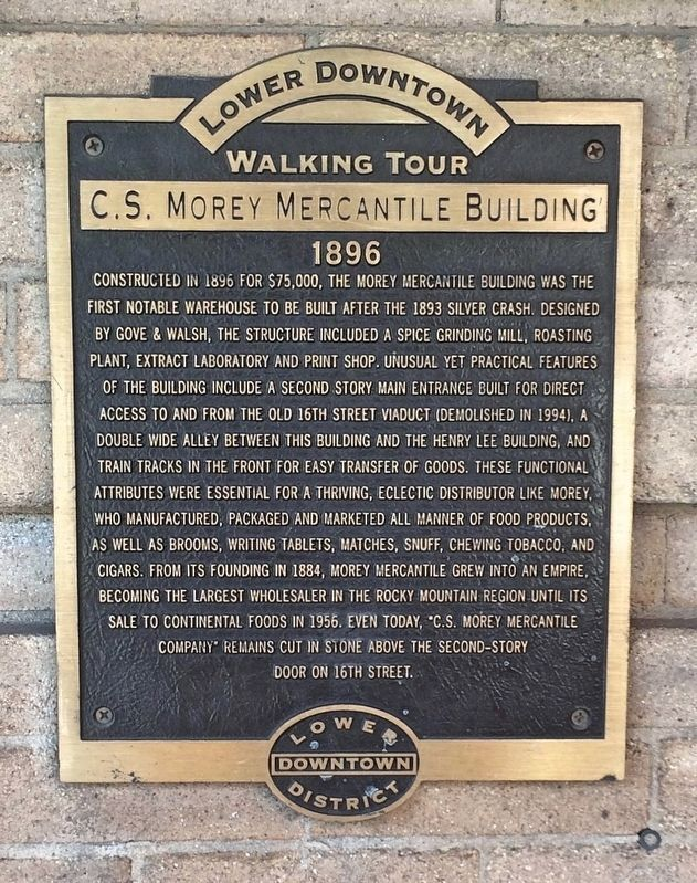 C. S. Morey Mercantile Building Marker image. Click for full size.