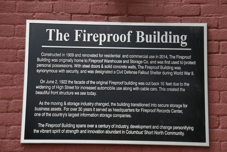 The Fireproof Building Marker image. Click for full size.