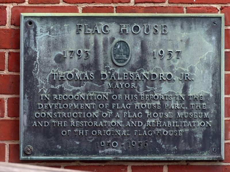 Flag House Marker image. Click for full size.