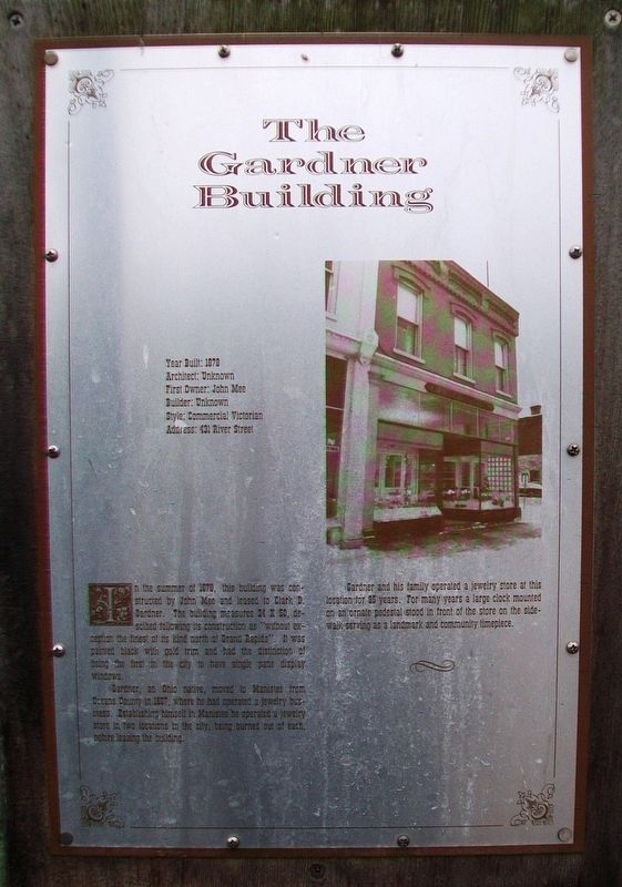 The Gardner Building Marker image. Click for full size.