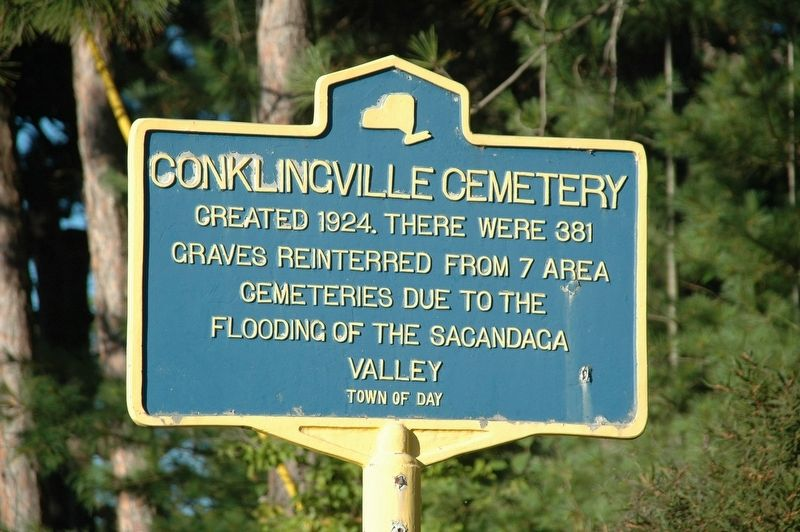Conklingville Cemetery Marker image. Click for full size.