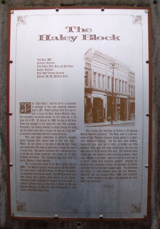 The Haley Block Marker image. Click for full size.
