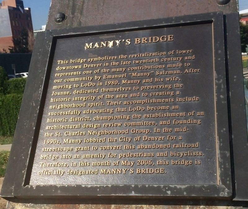 Manny's Bridge Marker image. Click for full size.
