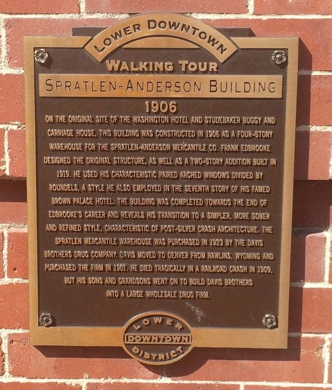 Spratlen-Anderson Building Marker image. Click for full size.