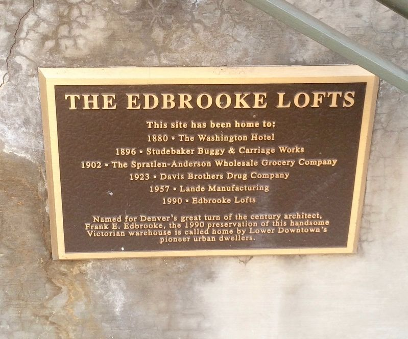 The Edbrooke Lofts Marker image. Click for full size.
