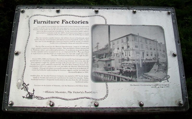 Furniture Factories Marker image. Click for full size.