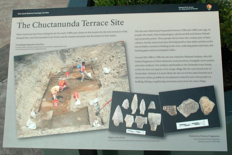 Chuctanunda Terrace Site Interpretive Panel image. Click for full size.
