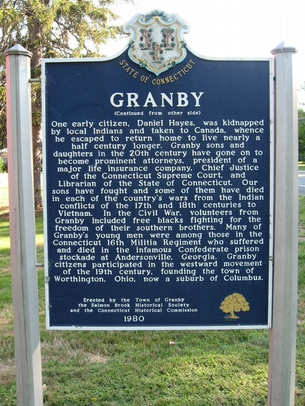 Granby Marker image. Click for full size.