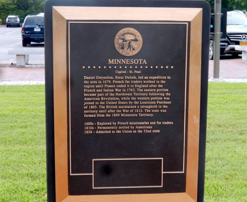 Minnesota Marker image. Click for full size.