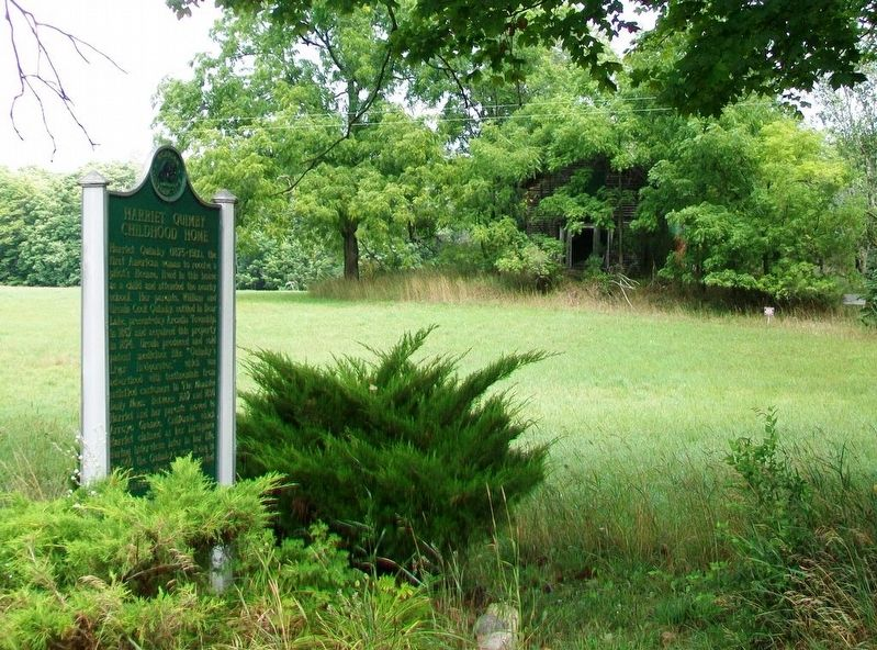Harriet Quimby / Childhood Home Marker image. Click for full size.
