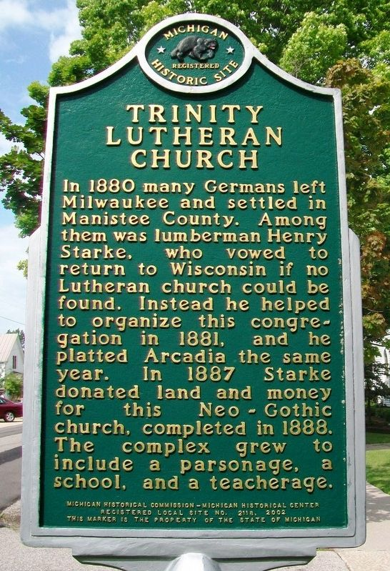 Trinity Lutheran Church Marker image. Click for full size.