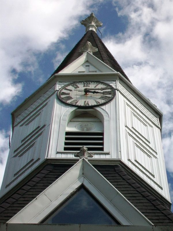 Trinity Lutheran Church Steeple image. Click for full size.