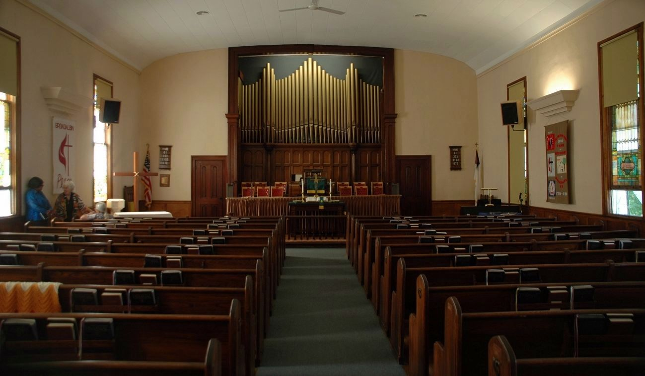 Broadalbin Methodist Episcopal Church Sanctuary image. Click for full size.