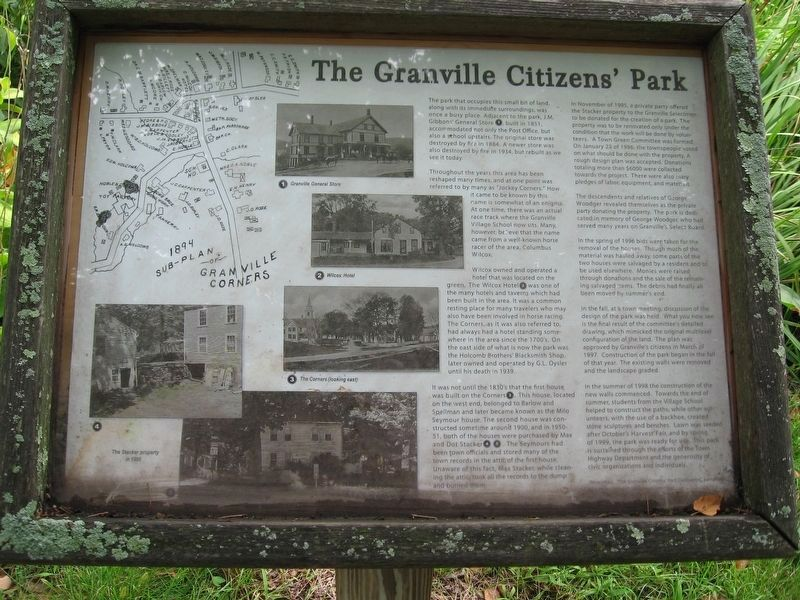 Granville Citizens Park Marker image. Click for full size.