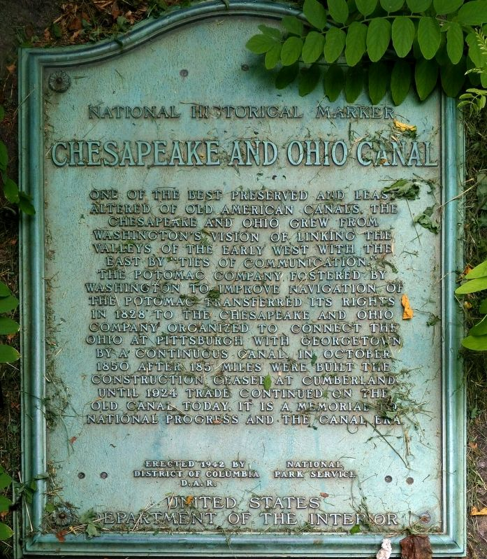 Chesapeake and Ohio Canal Marker image. Click for full size.