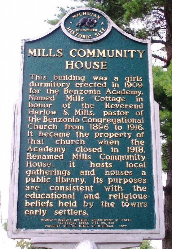 Mills Community House Marker image. Click for full size.