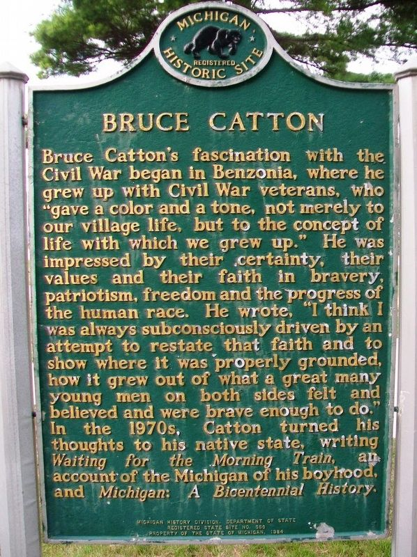 Bruce Catton Marker (Side B) image. Click for full size.