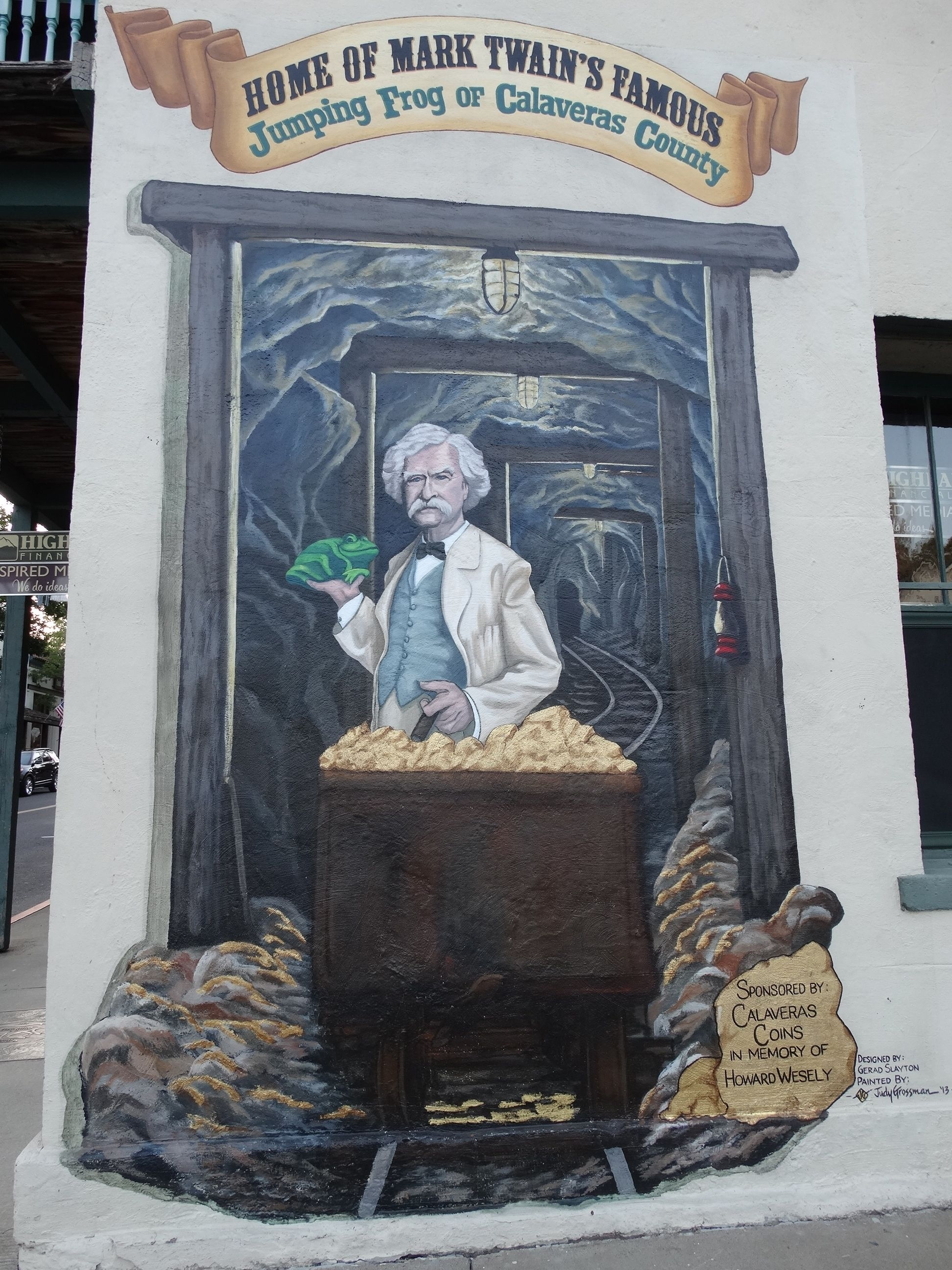 Home of Mark Twain Famous Jumping Frog of Calaveras County Mural