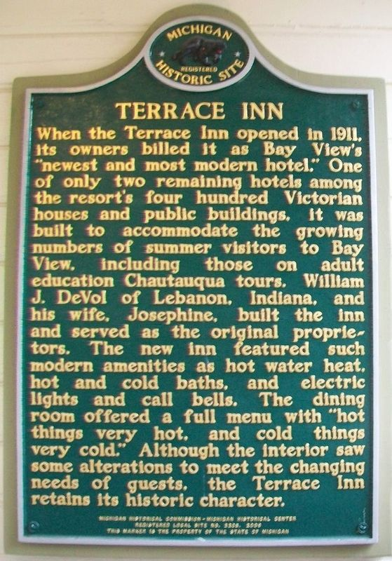 Terrace Inn Marker image. Click for full size.