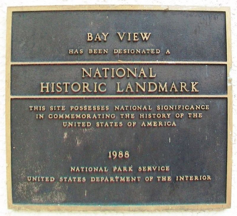 National Historic Landmark Marker on the John M. Hall Auditorium image. Click for full size.
