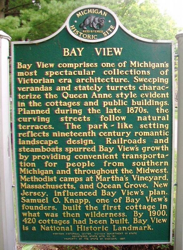 Bay View Marker (Side A) image. Click for full size.