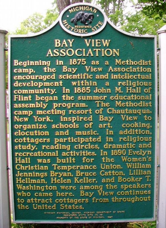 Bay View Association Marker (Side B) image. Click for full size.