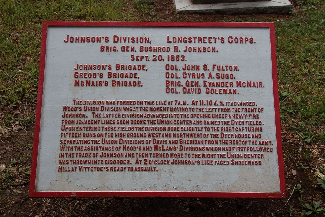 Johnson's Division Marker image. Click for full size.