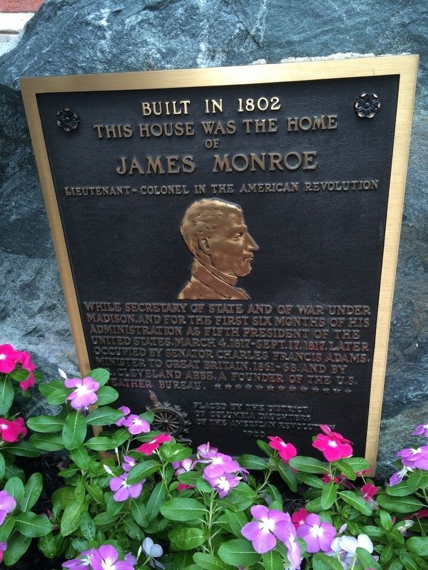 Home of James Monroe Marker image. Click for full size.