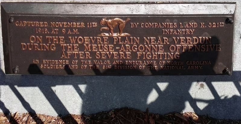 WWI Plaque (2016) image. Click for full size.