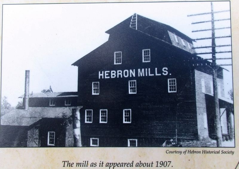 Hebron Mill Marker image. Click for full size.