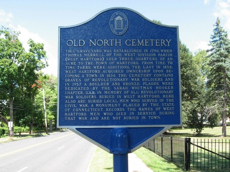 Old North Cemetery Marker image. Click for full size.