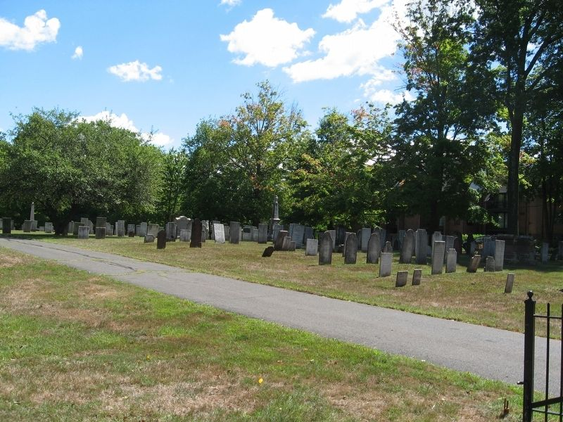 Gravestones in the Old North Cemetery image. Click for full size.