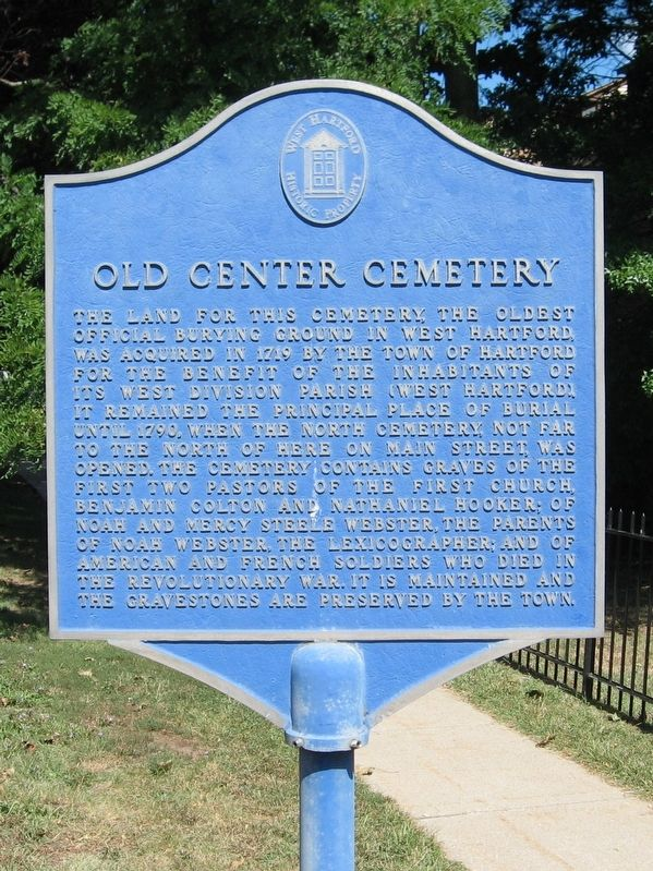 Old Center Cemetery Marker image. Click for full size.