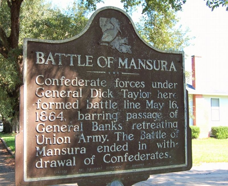 Battle of Mansura Marker image. Click for full size.