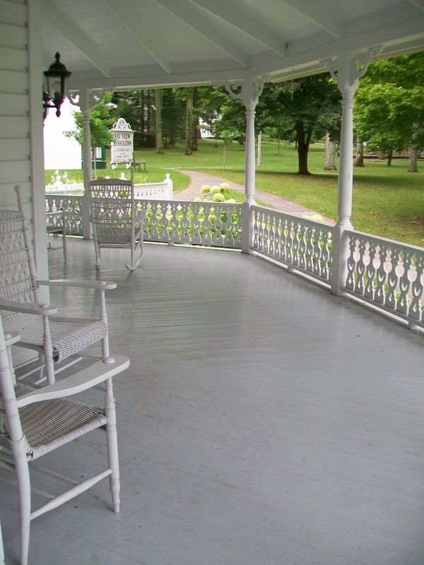 Porch of Woman's Council, formerly Chautauqua Cottage image. Click for full size.