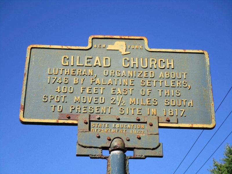 Gilead Church Marker image. Click for full size.