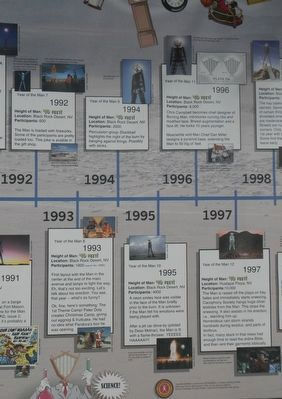 Burning Man Timeline, 1992 - 1997 Marker image. Click for full size.