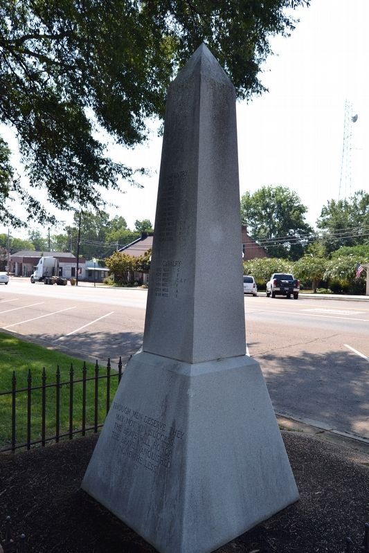 Chickasaw County CSA Monument image. Click for full size.