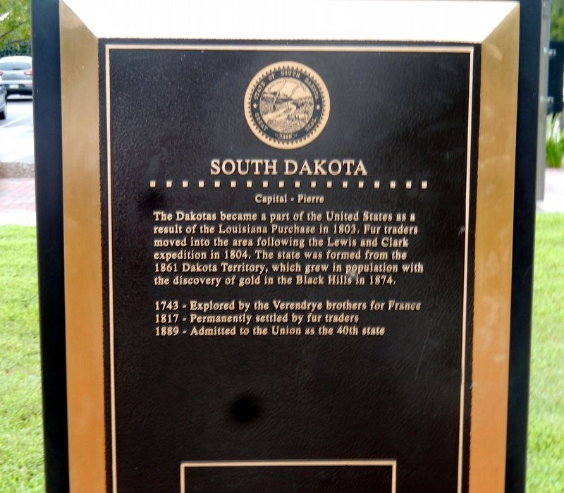 South Dakota Marker image. Click for full size.