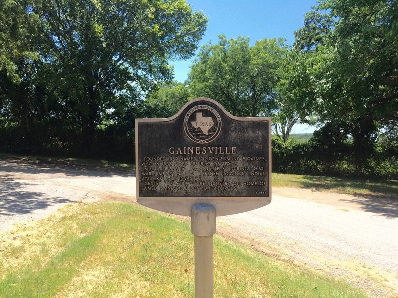 Gainesville Marker at roadside rest area. image. Click for full size.