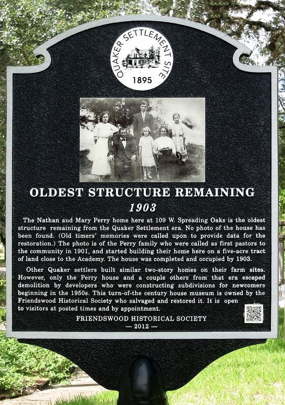 Oldest Structure Remaining Marker image. Click for full size.