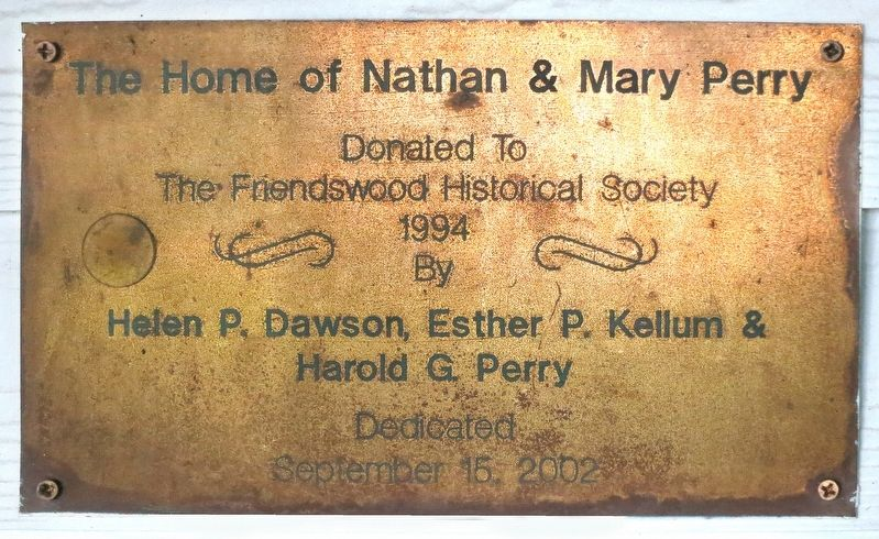 Plaque Acknowledging the Gift of the House to the Society image. Click for full size.