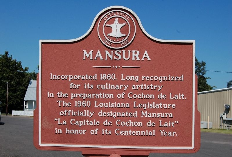 Mansura Marker image. Click for full size.