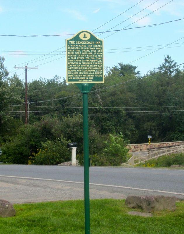 The Stagecoach Inn Marker Full View image. Click for full size.