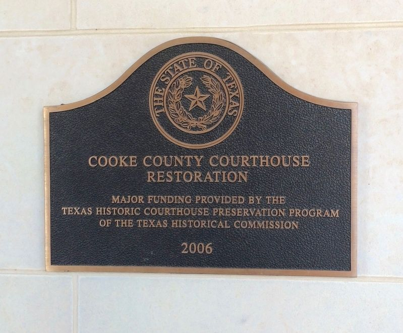 2006 Courthouse renovation plaque. image. Click for full size.