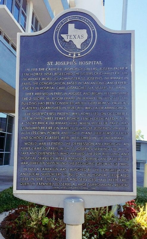 St. Joseph's Hospital Marker image. Click for full size.
