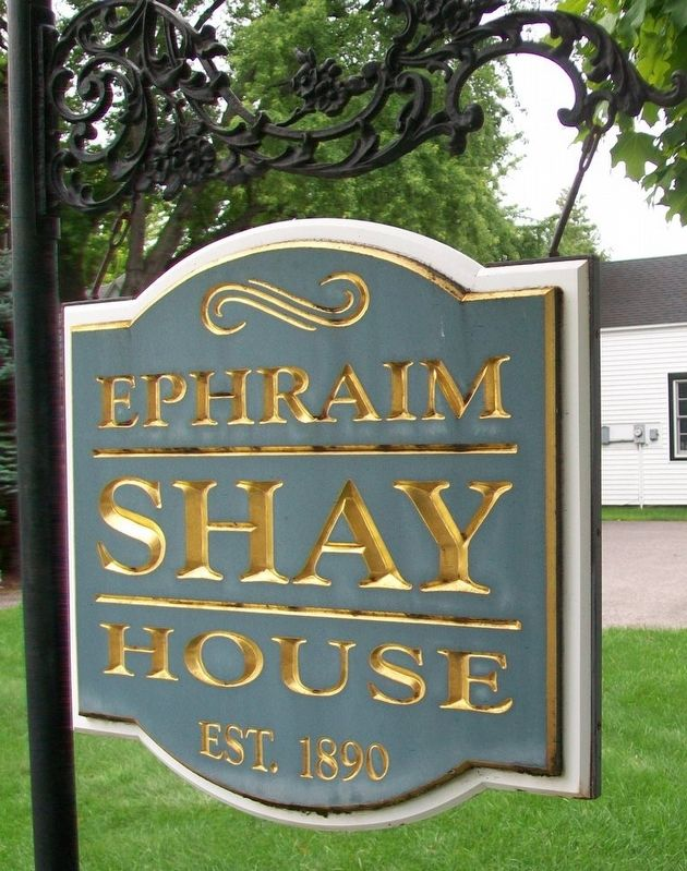 Ephraim Shay House Sign image. Click for full size.