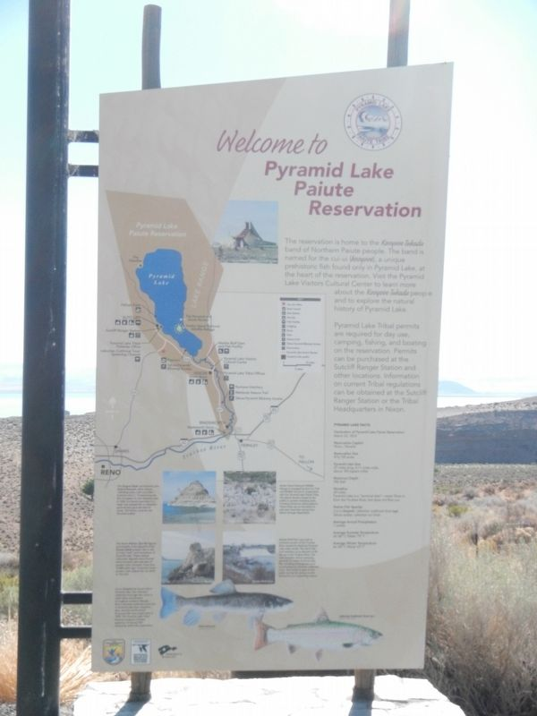 Welcome to Pyramid Lake Paiute Reservation image. Click for full size.